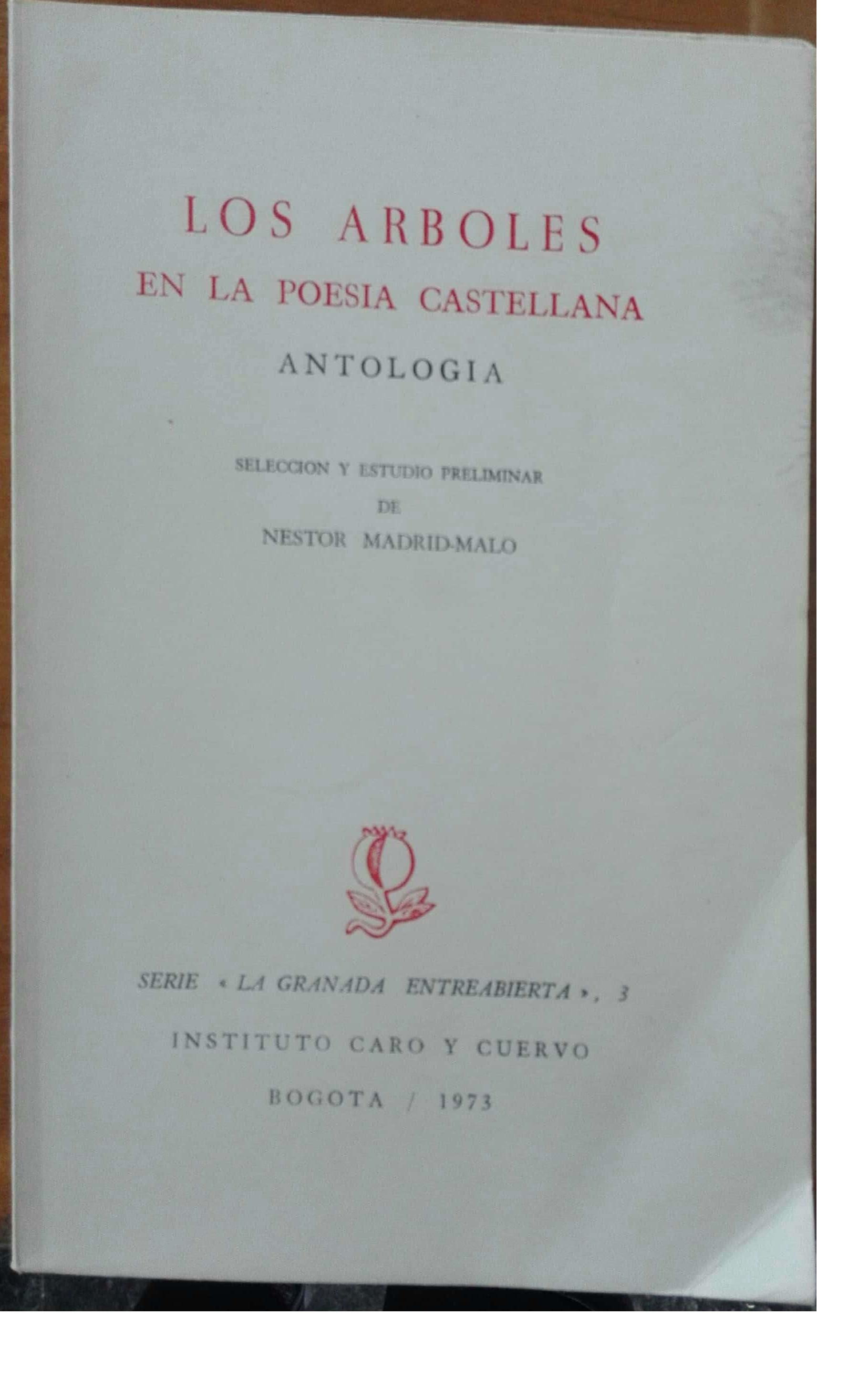 Los árboles en la poesía castellana. Antología