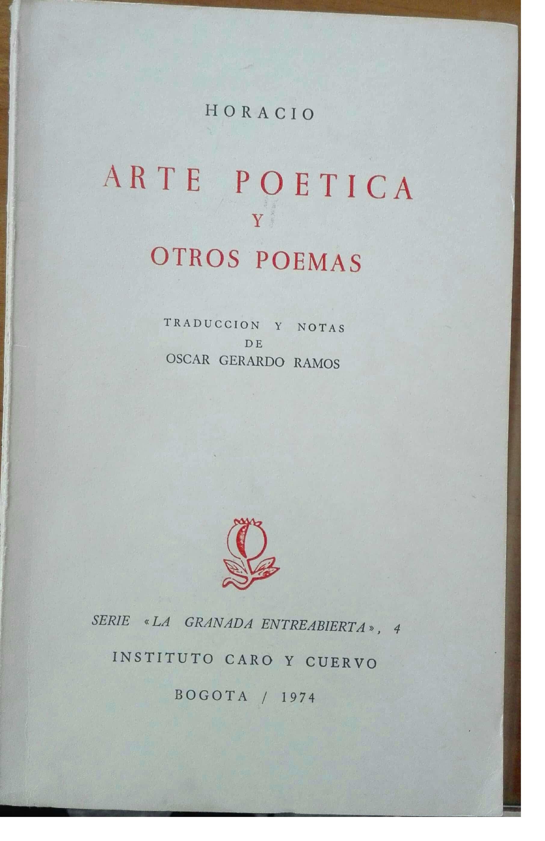 Arte poética y otros poemas