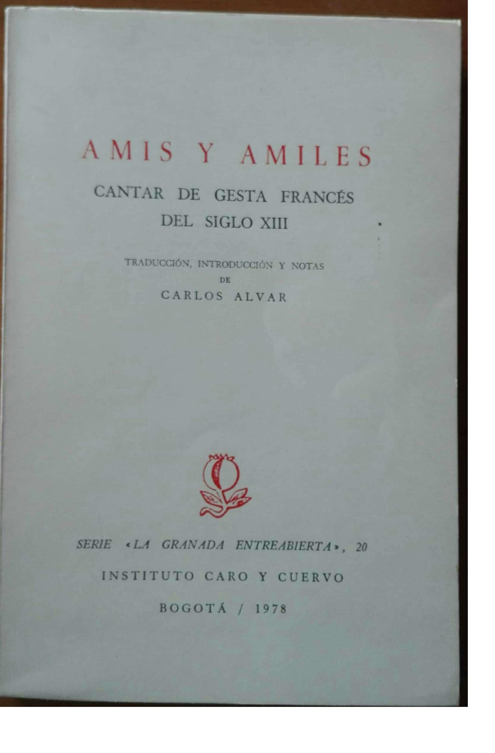 Amis y Amiles: cantar de gesta francés del siglo XIII